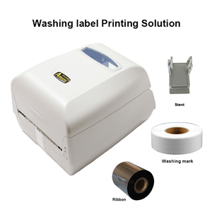 Image 2 - Thermal transfer label printer washing label printing solution with paper holder ribbon and silk clothes label easy for printing