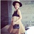 Nueva Moda 2016 Vestidos de Maternidad de Corea Del Verano Gasa de La Ropa Para El Embarazo Las Mujeres Embarazadas Vestido de Gasa Envío Gratis