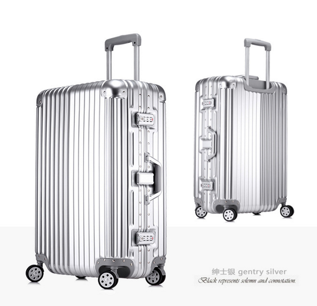"2016 20, 24, 26, 29"" European standards Aluminum Frame & PC Trolley Luggage Travel Rolling Suitcases Rolling Luggage For Sale"