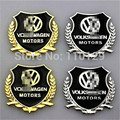 Etiqueta engomada del logotipo del metal del coche modificado accesorios del coche columna estándar pegatinas Para VW Golf 6 GTI JETTA MK5 MK6 CC Tiguan Passat B6 2 UNID