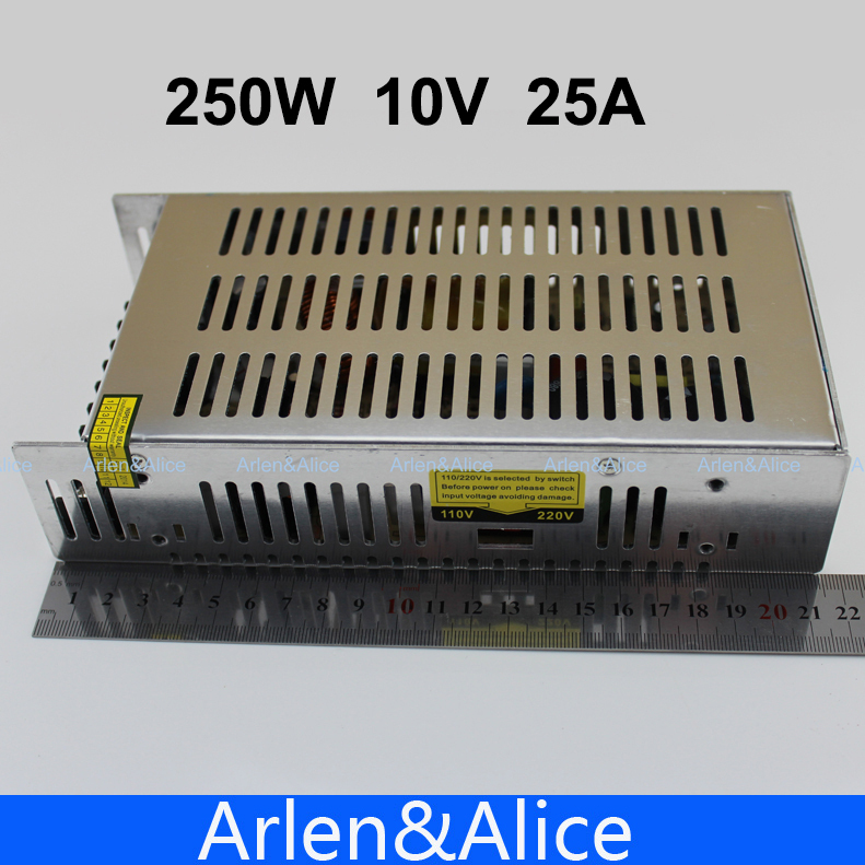 250W 10V 25A Single Output Switching power supply for LED Strip light AC to DC ac 85v 265v to 20 38v 600ma power supply driver adapter for led light lamp