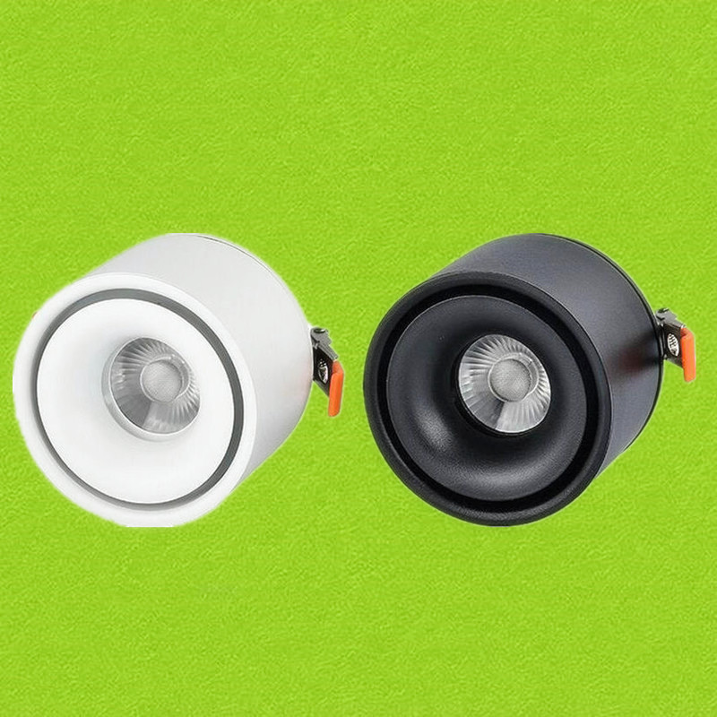DHL Free Shipping Adjustable Surface Mounted LED Downlight Warm Cool White 10W 15W 20W COB LED Down Light Indoor light 1 piece free shipping anodizing aluminium amplifiers black wall mounted distribution case 80x234x250mm