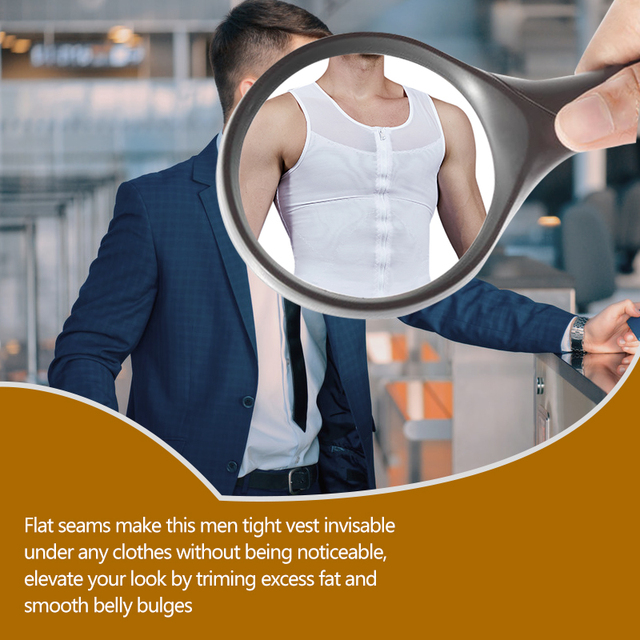 VASLANDA Belly Slimming Belt Fat Burning Shaperwear Mens Sweat Vest Waist Girdle Corset Shaping Underwear Sauna Tank Tops Shaper 3