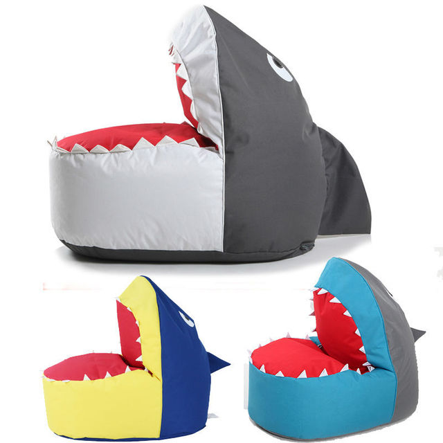 Shark Shape Bean Bag Chair Lazy Sofa For Adults And Chilren Living