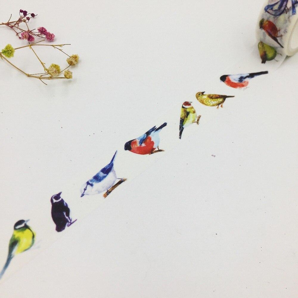 Beautiful  High Quality 20mm*5m  Washi Paper  Tape/Various Color Bird Masking  Japan  Washi Tape