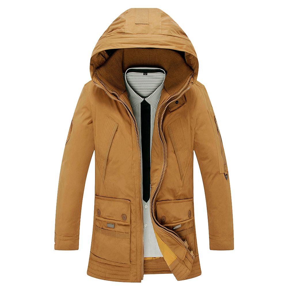 2018 Hot Sale Brand   Down   Jacket Men Winter Jacket Men Warm 90% Duck   Down     Coat   Hooded Jacket Jaqueta Masculina Chaqueta Hombre