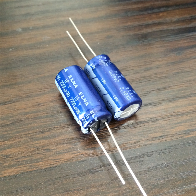 100pcs 2200uF 16V ELNA RE3 Series 10x20mm 16V2200uF Audio Capacitor