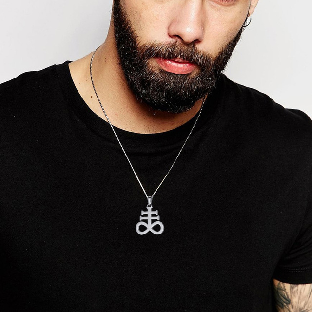 Leviathan Cross Pendant Necklace Stainless Steel 4