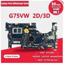 G75 G75V G75VW laptop motherboard 2D/3D REV: 2,1 60-N2VMB1501-B06 mainboard DDR3