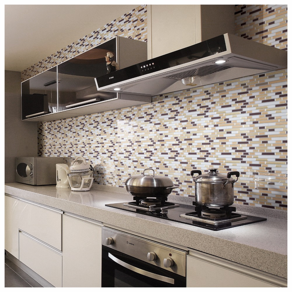 10 peel and stick backsplash tile wall sticker vinyl wall covering 12 x 12 sticker wall paper home decor in wall stickers from home garden on