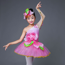 Розовое детское нарядное платье современное танцевальное платье с блестками для сальсы, детское танцевальное платье для девочек, костюм для танцевального конкурса