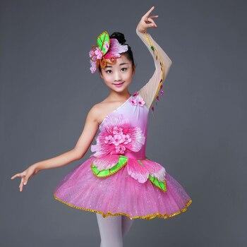 Różowe przebranie dzieci nowoczesne cekiny salsa sukienka do tańca dziewczyny dzieci taniec sukienka dla dziewcząt konkurs kostium taneczny nosić