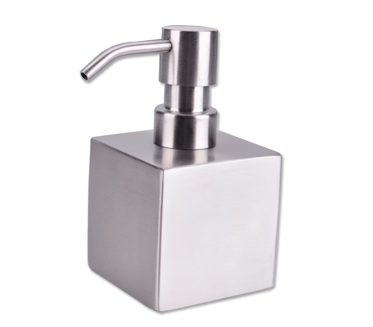 Bathroom supplies stainless steel square soap dispenser for Liquid soap dispenser for bathroom