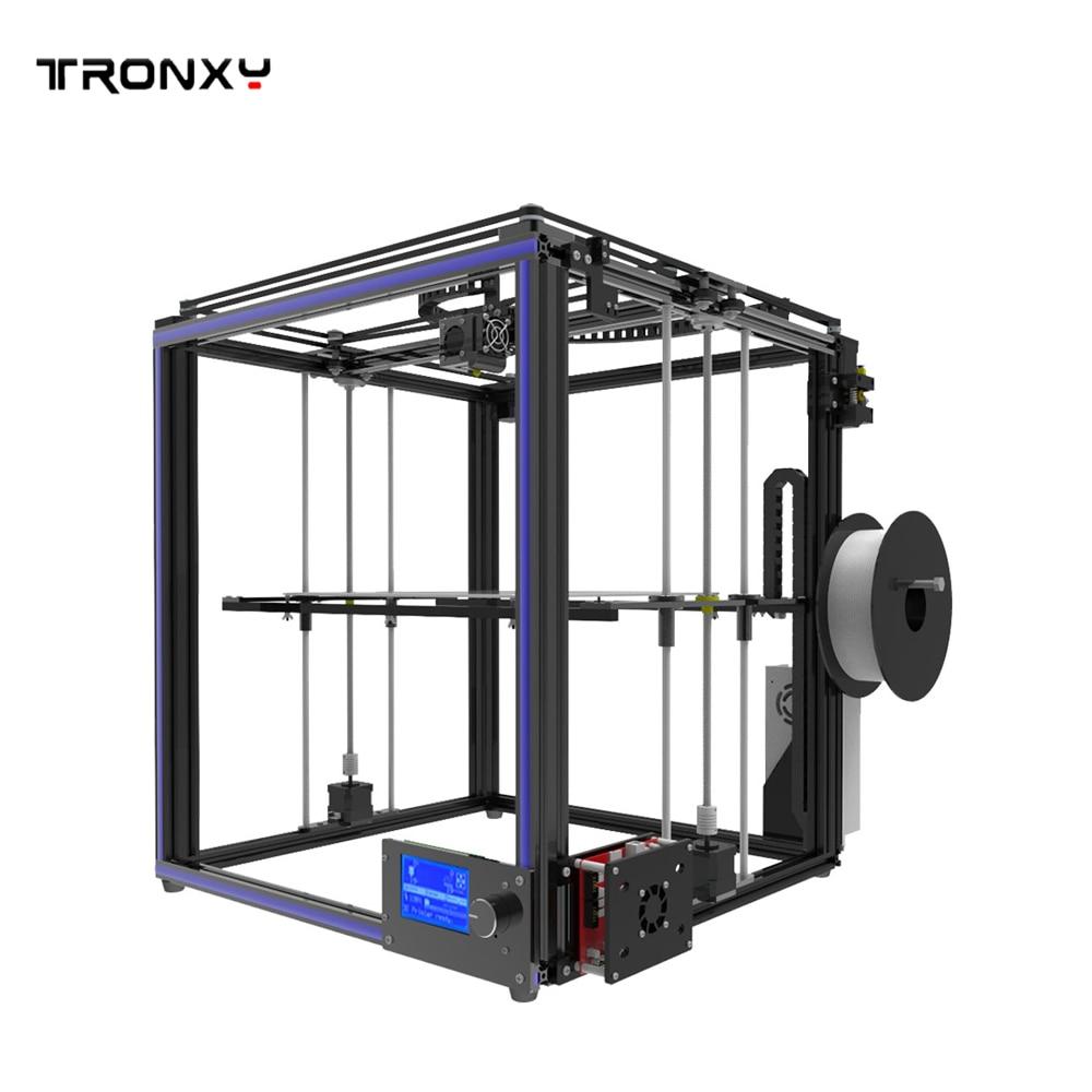 Tronxy X5S X5SA Large 3D Printer Double Z Axis Design High Precision diy kit LCD 3d printing Large Size 330*330*400mm 3D Printer - 3