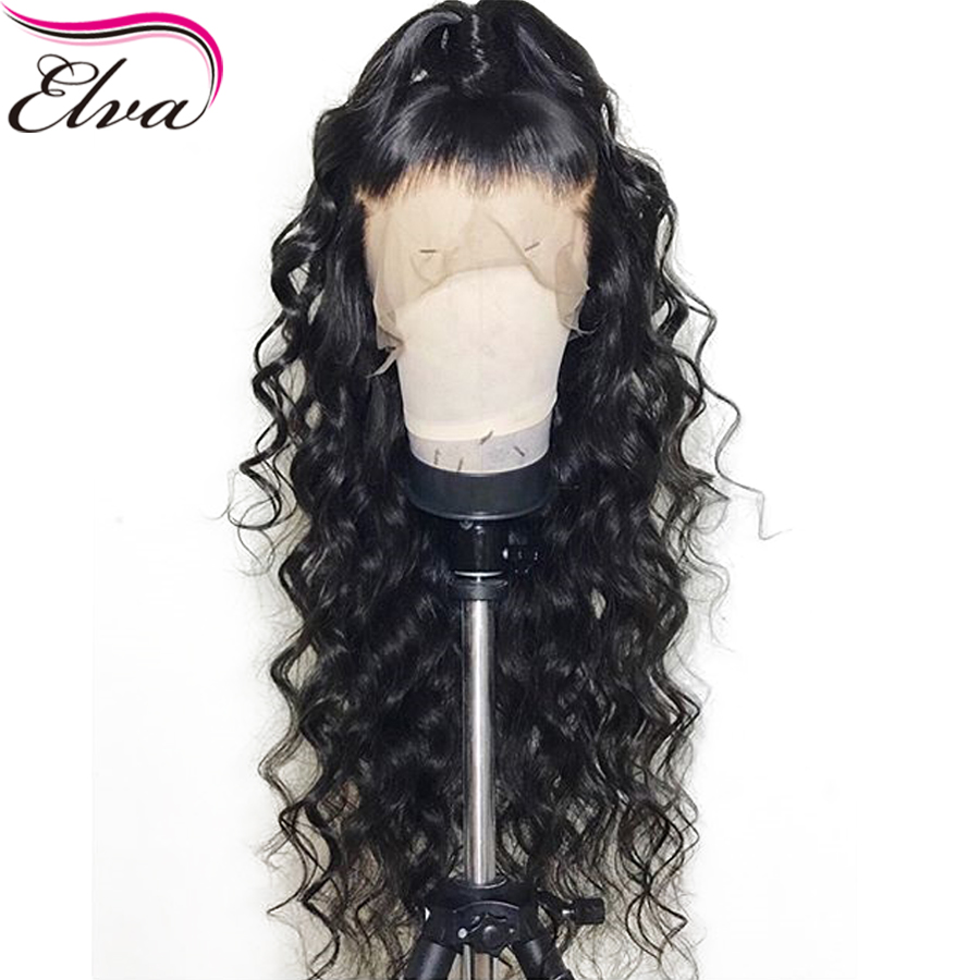 Elva Hair Lace Front Human Hair Wigs 13x6 Curly With Baby Hair Pre Plucked Lace Wigs For Black Women Brazilian Remy Hair