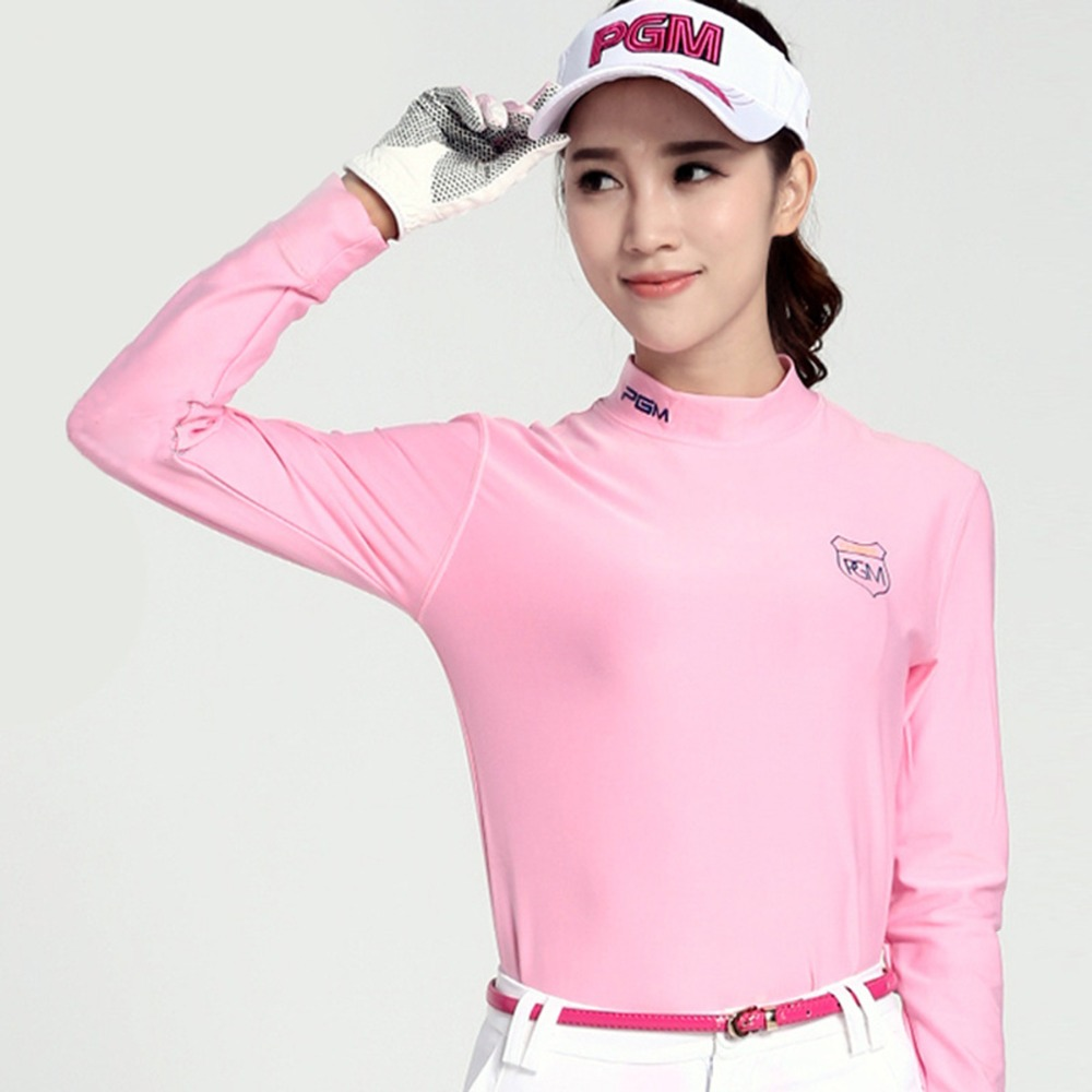 PGM Golf Clothing Ladies Long-sleeved T-shirt Women Golf T-Shirt Soft Comfortable Autumn and Winter Thermal Sports