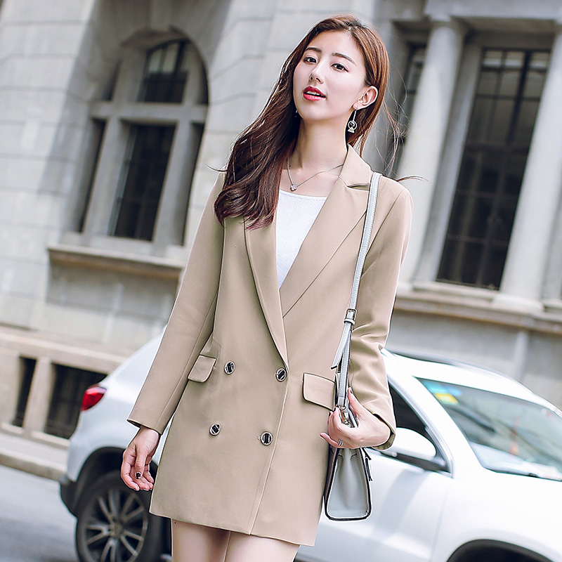 Slim casual pocket double-breasted autumn charming jacke
