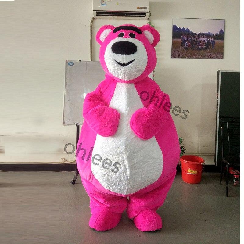 6511e948b7658 Ohlees جميل الوردي ملابس Bear mascot تخصيص حزب عيد ميلاد تأثيري دمى هدايا  سعر المصنع الحيوان التميمة