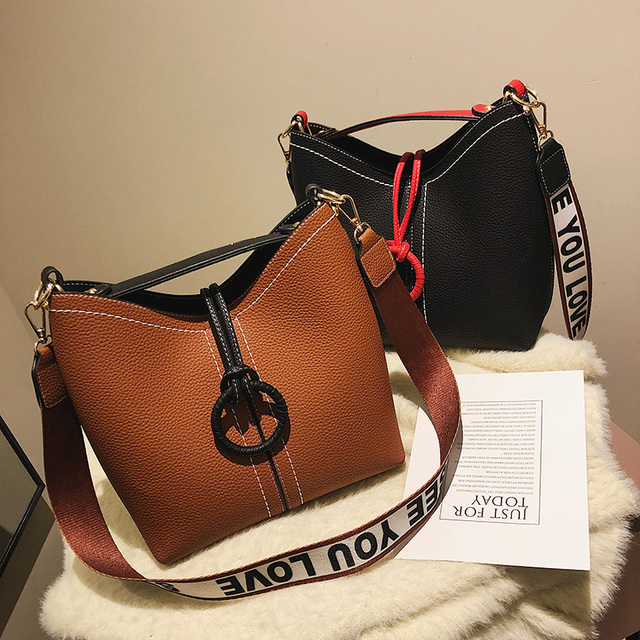 Toposhine Women Bucket Bags New Fashion Female Shoulder Bags High Quality Girls Messenger Bags 2019 Popular Bucket Girl handbags