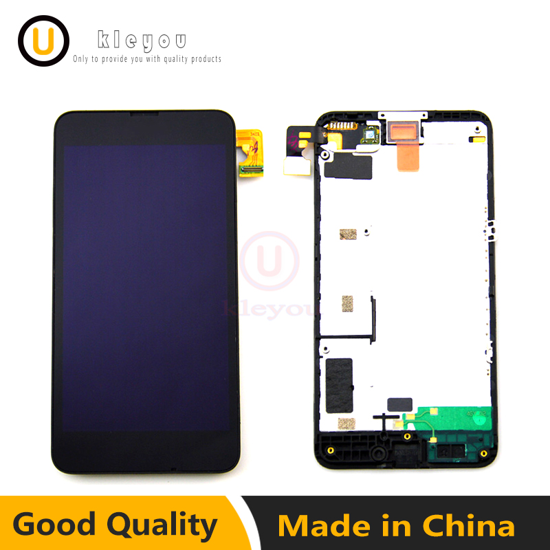 100% Tested Black For Nokia Lumia 630 635 LCD Display Touch Screen Digitizer Assembly Bezel Frame lumia 635 lcd Free Shipping