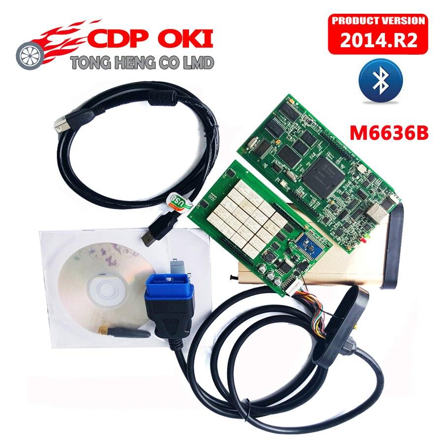 Цена за Оптовая Цена TCS CDP С OKI Chip (M6636B OKI Chip) Bluetooth TCS CDP Pro Plus 2014. R2 keygen Новый VCI cdp 3in1