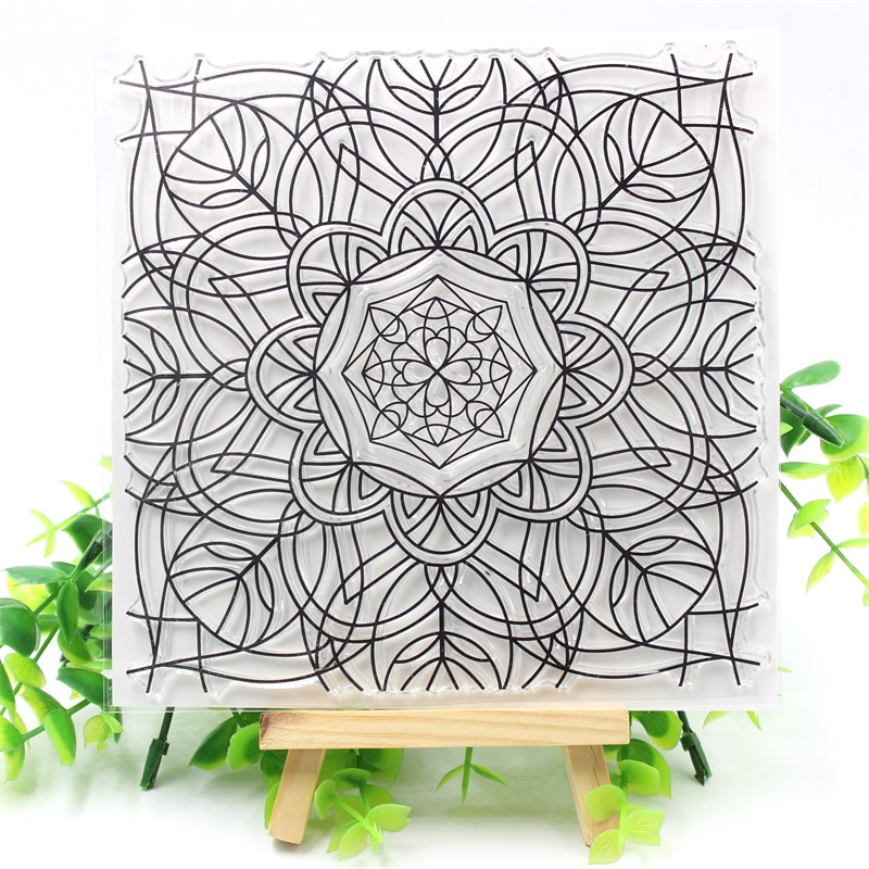 YPP CRAFT Flourish Flower Transparent Clear Silicone Stamps for DIY Scrapbooking/Card Making/Kids Crafts Fun Decoration Supplies