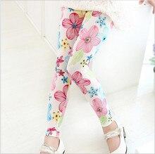 Print Flowers style 2-6Y Baby Kids Leggings Children's Clothing Girl Pants Printing Flower Girls Legging Toddler Classic Legging