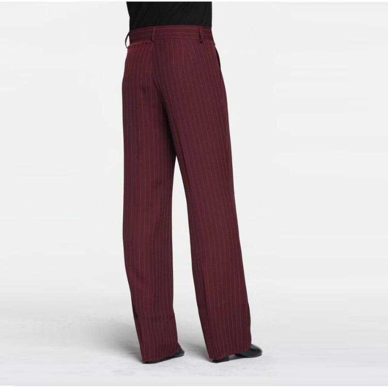 Sexy Latin Dance Pants Men's Red Ballroom Dancing Clothes Men Rumba Samba Profession Modern Square Chacha Trousers B-6976 4