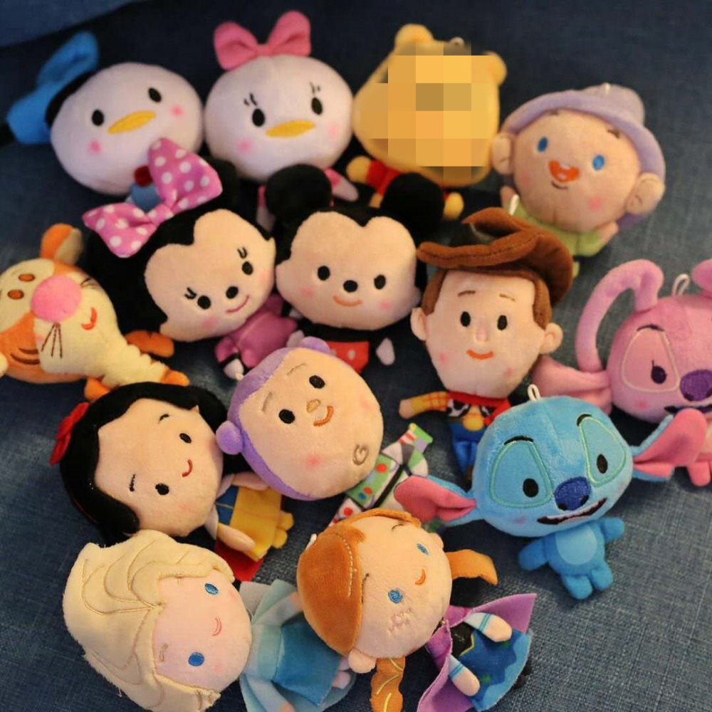 Ivyye 10cm Stitch Mouse Duck Anime Stuffed Plush Dolls Chain Pendant Fluffy Ornament Doll Keychain Cartoon Soft Toy Gifts New