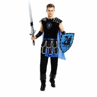 Male Roman Warrior Costume Adult Halloween Cosplay Roman Gladiator Costume Mens Roman Soldier Costume Fancy Dress Party Outfit
