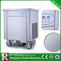 Verschiffen durch air einzel pfanne gebraten eismaschine mit R410A kälte braten eis roller zum verkauf|Eismaschinen|Haushaltsgeräte -