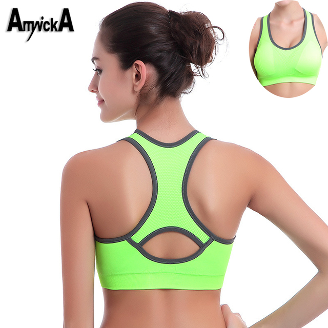 8cb11368e9f75 AmynickA Brand Women Sexy Sport Yoga Top Bra Running Gym Workout Fitness  Sports Shirt Woman Yoga Vest Bras Girls 5 Colors A101