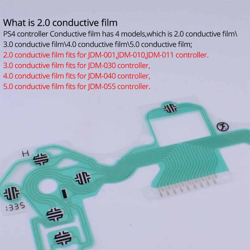 2pcs PS4 Controller Conductive Film Button Ribbon Flex Cable for  JDM-001/JDM-011/JDM-010 DUALSHOCK 4 PS4 Wireless Controller