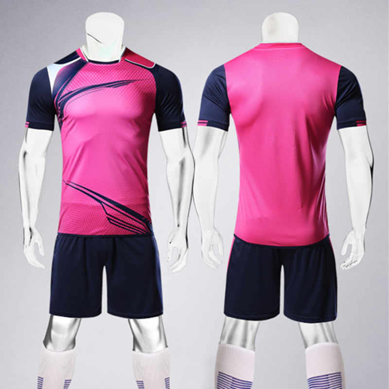 af7f7bdc9 ... Men Soccer Jerseys Sets Adult Survetement Football Volleyball Sport Kit  Team Uniform Breathable Training Suit Customize ...