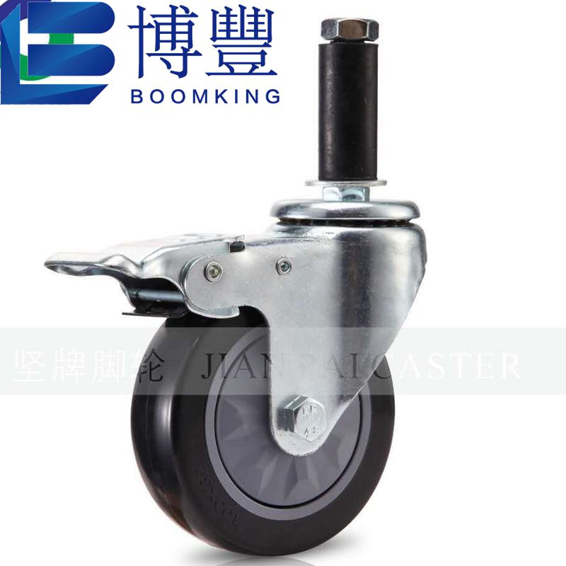 3 ''/75mm Pvc Meubels Caster Slip Universele Wiel, Insert Caster Platte Brake Universal Caster Uitbreiding Rubber Beweegbare Whee