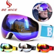 Cross Country Mountain Windproof Skiing Goggle Adults Sportswear Snow Eye Wear Accessories UV 400 Double Anti