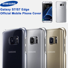 цена на Samsung Original Transparent Plating Edge TPU Cover Phone Case For Samsung Galaxy S7 G9300 S7edge G9350 Protective Phone Cover