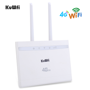 Image 2 - KuWfi 4G LTE Router 150Mbps Wireless CPE Router 3G/4G SIM Card Wifi Router Support 4G to Wired Network up to 32 Wifi Device