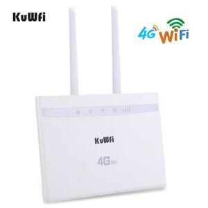 Image 2 - Routeur KuWfi 4G LTE 150Mbps routeur CPE sans fil 3G/4G carte SIM routeur Wifi prise en charge 4G au réseau câblé jusquà 32 appareils Wifi