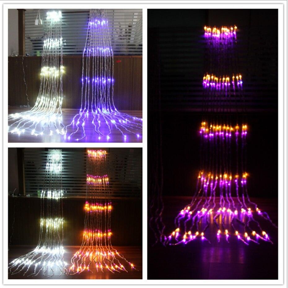YINGTOUMAN весенний подводный светильник, подвесной светодиодный светильник, гирлянды для сада, Рождества, КТВ, вечерние праздничные декоративные светильники 6*3 м, 640 светодиодный - 4