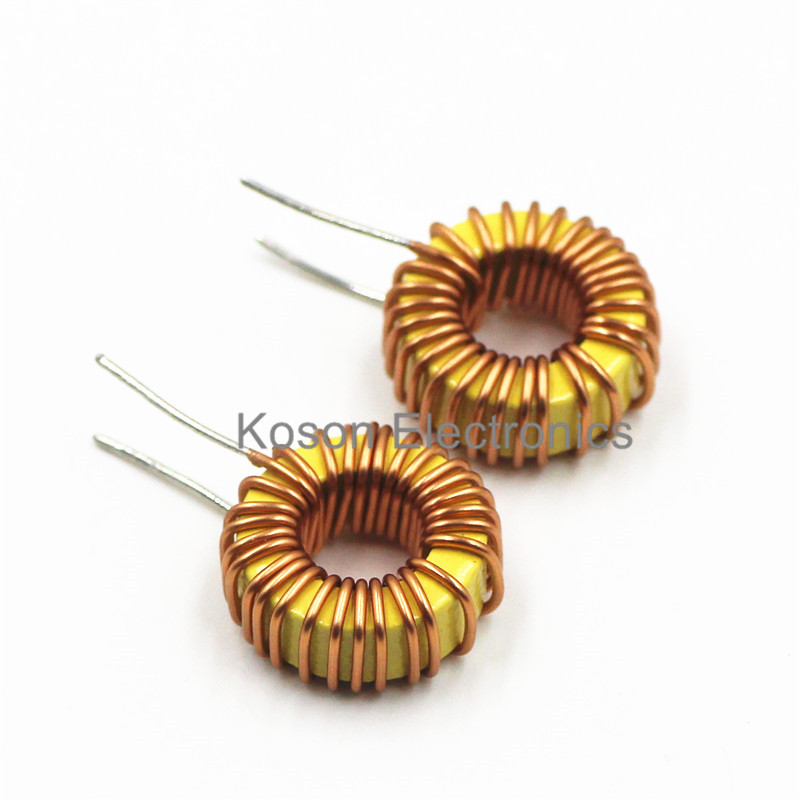 5Pcs <font><b>100uH</b></font> 3A Toroid Core <font><b>Inductor</b></font> Wire Coil Wind Wound 13mm Outer Dia for DIY image
