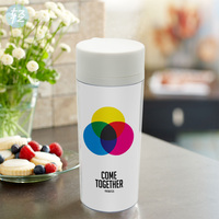 Personalized Cup BPA Free Plastic Insulated Beatles Music Minimalist Motivational Typography Quotes Water Bottle 300ml Gifts