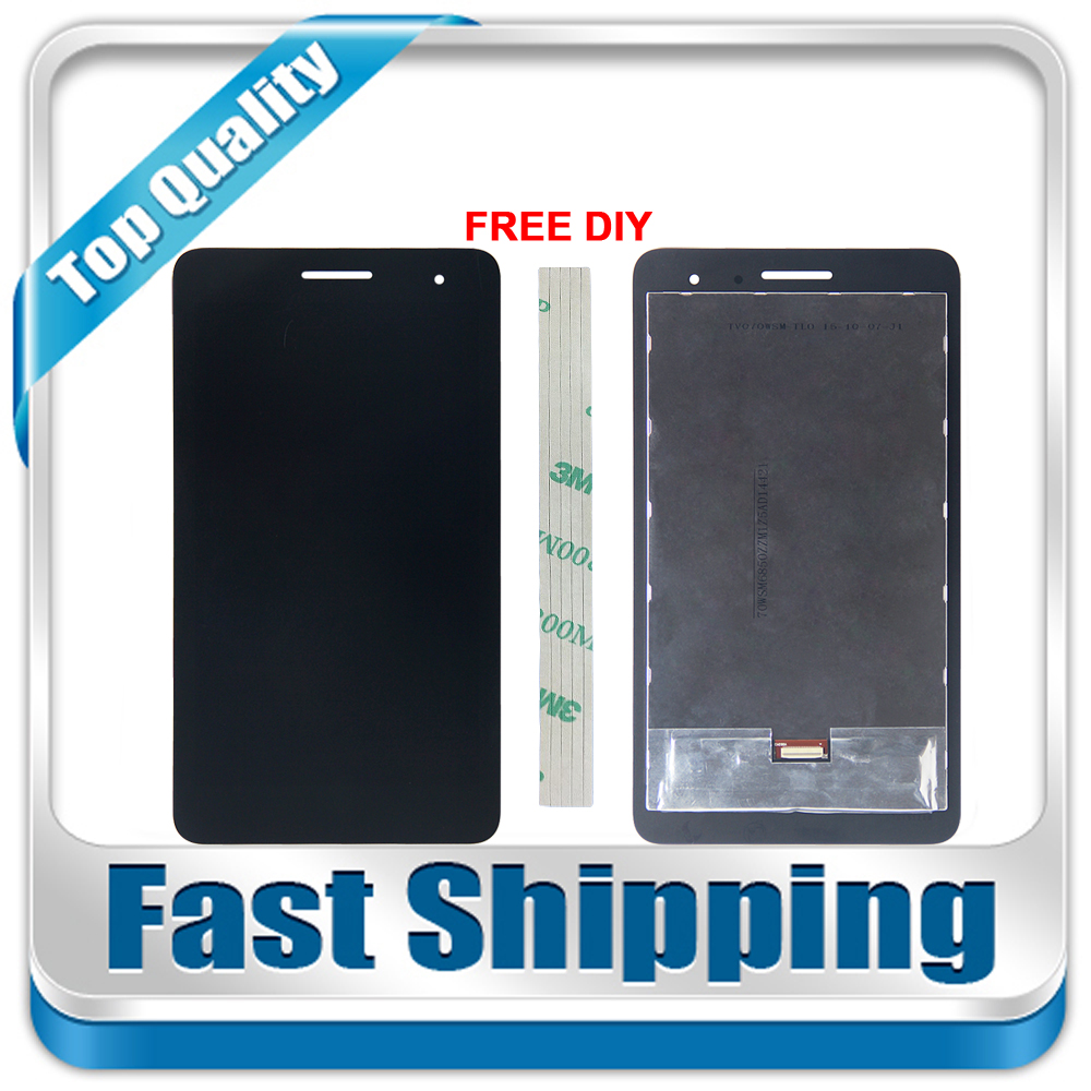 New For Huawei Honor Play Mediapad T1-701 T1 701U T1-701U Replacement LCD Display Touch Screen Digitizer Black White 7-inch цена