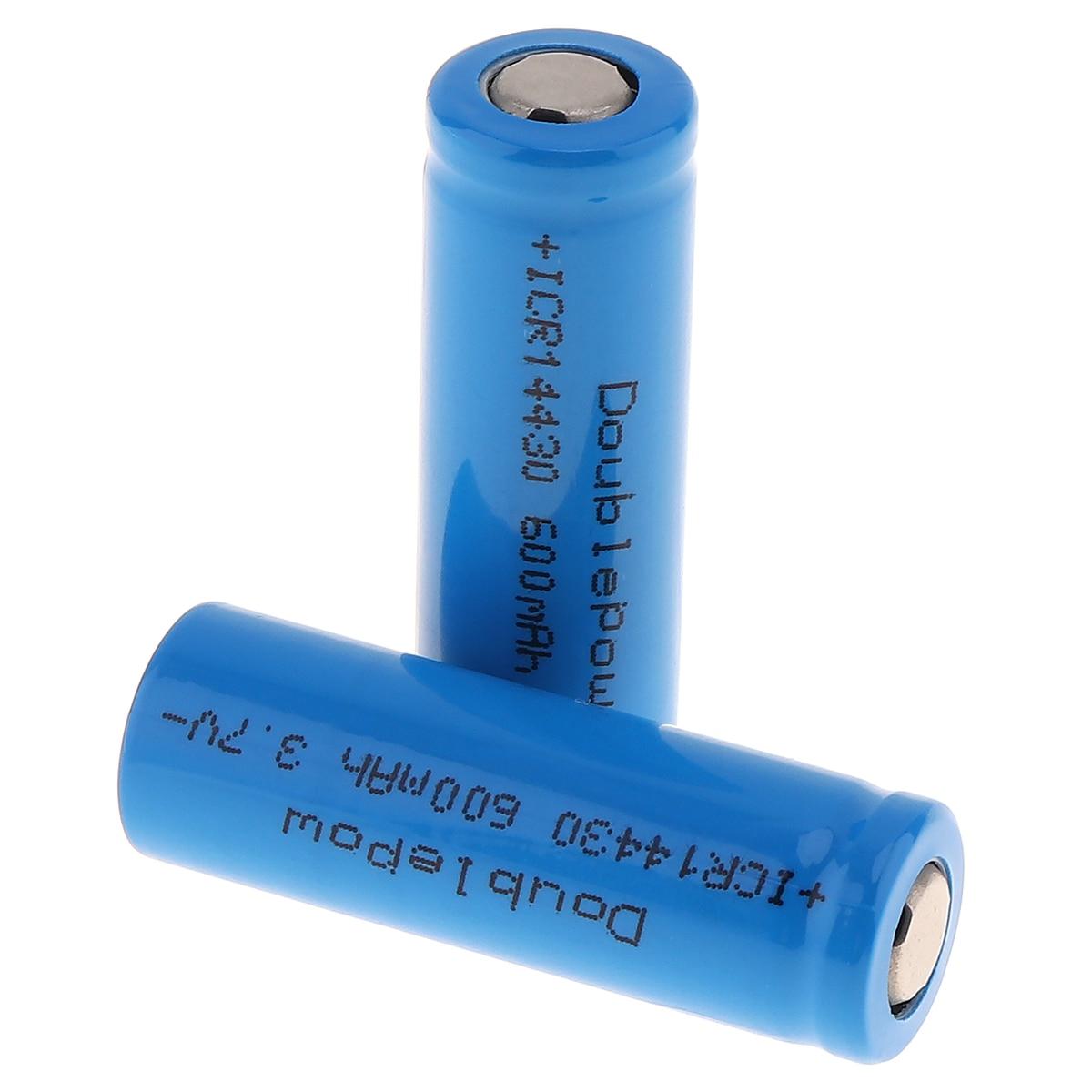 2 Stücke 14430 600 mah ICR14430 Li-Ion akku 3,7 v Liion Lithium-Batteria Geringe selbstentladung Batterien