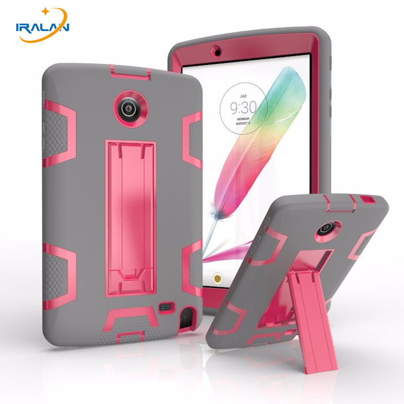 2017 Hot Tablet hard case For LG G Pad 2 8.0 V495 V498 V496 Shockproof Heavy Duty Rubber With Stand cover+screen film+stylus Pen