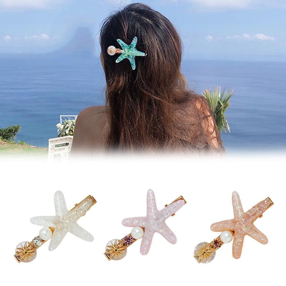 Elegant Sea Shell Hairpin Starfish Hair Clips Beach Bridal Mermaid Festival Wedding Headwear Hair Accessories Wholesale