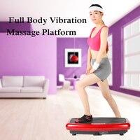 Сообщение вибрации Plate вибрации всего тела плиты платформы Фитнес машина тренировки тренер десятки Мощность Фитнес оборудования