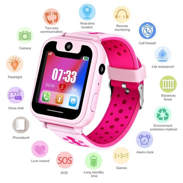 b3a8fcd453a 2018 Novo relógio Inteligente LBS Garoto Relógio Bebê para Crianças SOS  Chamada SmartWatches Location Finder Localizador