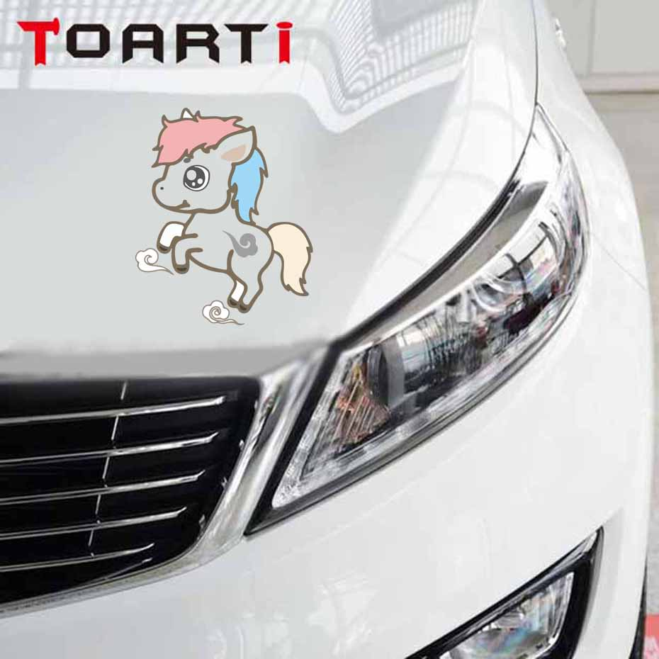 1PC 12*10cm High Quality Unicorn Car Sticker Cartoon Animals Vinyl Window Body Decal Sticker Personality Car Styling high quality alaskan malamute retriever vinyl window dog decal sticker for car suv body