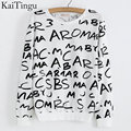 KaiTingu New Autumn Style Long Sleeve Hoodies Sportswear Sweatshirt Women Tracksuits Pullover Tops Letter Print